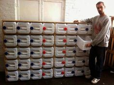 This is sweet! Plastic tubs recycled into drawers