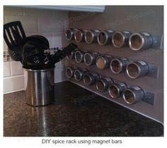 Magnet spice rack