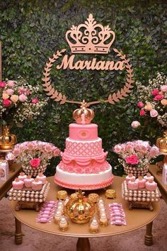 Discover thousands of images about Safari princess party Baby Shower Princess, Princess Birthday, Princess Party, Quinceanera Cakes, Quinceanera Decorations, Themes For Quinceanera, Sweet 16 Parties, Pink Parties, 15th Birthday