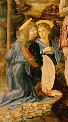 Andrea Verrocchio - The Baptism of Christ John the Baptist, c.1475 (detail of 362326)