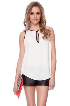 Edgy Contrast Tank Top.