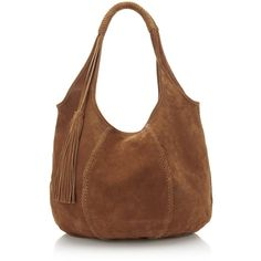 Jigsaw Orla Suede Hobo Bag (£49) ❤ liked on Polyvore featuring bags, handbags, shoulder bags, tan, shoulder strap bags, brown purse, shoulder handbags, shoulder strap handbags and hobo hand bags