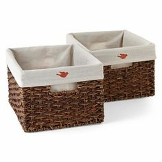 Michael Graves Design Natural Woven Lined Storage Basket - jcpenney