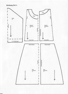 Moldes Para Artesanato em Tecido: Moldes da Boneca Tilda