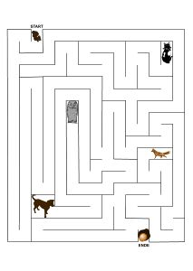 labyrinth irrgarten maus sucht k se bildung kinde. Black Bedroom Furniture Sets. Home Design Ideas