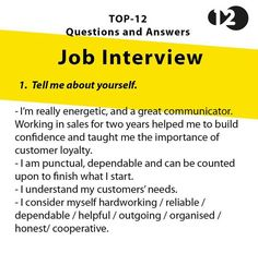 Sample questions and answers for job interview Job Interview Answers, Job Interview Preparation, Interview Skills, Job Interview Tips, Job Interviews, Resume Skills, Job Resume, Resume Tips, Job Cover Letter