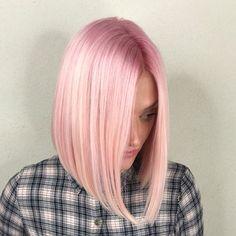 Straight Hairstyles for Shoulder Length Hair Pastel Pink Hair, Purple Hair, Pastel Bob, Blush Pink, Baby Pink Hair, Peach Hair, Green Hair, Pretty Hairstyles, Straight Hairstyles