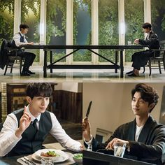 Has there been a more bromantic drama? Human bride or not, based on these stills, the true OTP is Goblin/Death Angel! After all, they are going to be source of all the cohabitation shenanigans. So …