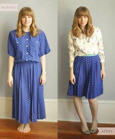 Über Chic for Cheap: Refashion: Polka Dot Skirt