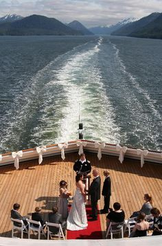 It S A Wonder Ful Alaska May Cruise Wedding Travel