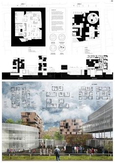 Architecture House Competition single family house presentation, board, house, section