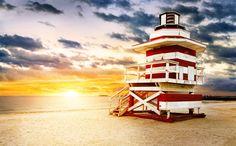 Lifeguard Hut On South Beach Vinyl Print