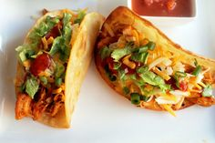 Roasted Chicken Tacos - Creole Contessa