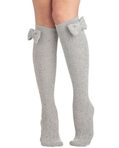 Grey #socks with bows