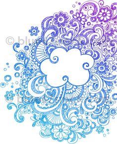 Big Cloud Abstract Hand-Drawn Sketchy Doodle Vector Illustration by blue67design, via Flickr