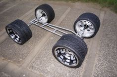 Radio-Flyer-Wagon-Chassis-Custom-Stainless-Steel-Made-Chassis-Only