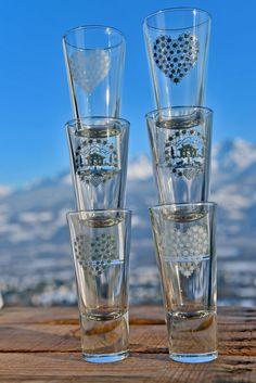 Verrines, tasses à expresso ou verres à liqueur, déco montagne Crédit Photo : JP.Noisillier:nuts.fr