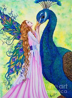 Fairy and Peacock by Kyra Wilson