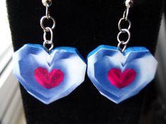 Legend of Zelda Heart Container Dangle Earrings