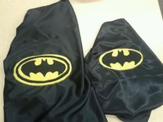 Adult  and toddler batman capes From DandieLyons on facebook
