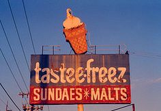 I remember going to tastee-freez when I was four years old. Wish I could find places like that to treat my own children to. Sonic's just not the same thing. ;)