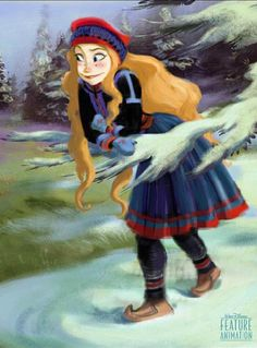 Princess Anna-Frozen-Concept Art