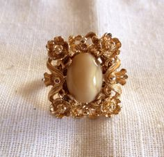 Adjustable Costume Ring Upcycled Repurposed by heartsoftoday, $20.00