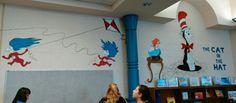 Library mural from The Cat In the Hat