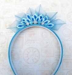 Ice Princess Tiara Kanzashi Headband