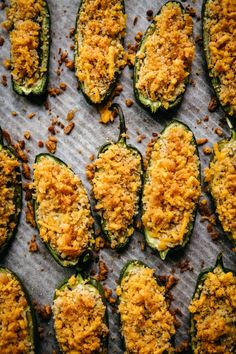 These vegan jalapeno poppers are crispy, cheesy, gluten free and pack just the right amount of spice for an easy appetizer. Jalapeno Recipes, Veggie Recipes, Whole Food Recipes, Cheesy Recipes, Bacon Recipes, Milk Recipes, Veggie Food, Gluten Free Appetizers, Appetizer Recipes