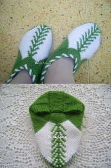 This Pin was discovered by Ley Crochet Socks, Knitted Slippers, Knitting Socks, Baby Knitting, Knitted Hats, Knit Crochet, Craft Patterns, Knitting Patterns, Knitting