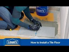 A tile floor adds style to any room. It's also durable, easy to clean and a project you can take on with confidence. Learn how to install and grout tile.