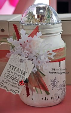 Inspiration Station: Christmas Mason Jars