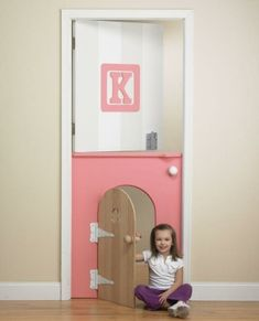 Under the stairs play area - fun kid room doors (ideas to look up and use)