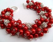 red and pink beaded jewelry for weddings - Google Search