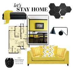 """""""Lets Stay Home"""" by emcf3548 ❤ liked on Polyvore featuring interior, interiors, interior design, home, home decor, interior decorating, Tracy Reese, Progetti, Kate Spade and Lalique"""