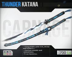 Speaking of thunder katanas.. THIS CARNAGE IS ON SALE!!
