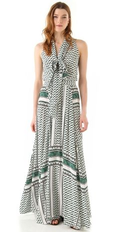 Scarf Print Maxi Dress with... by Errcomp