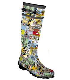 Mickey Mouse Cartoon Comic Strip Wellies Boots - How cool!