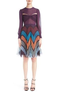 Illusion Cutout Tulle Dress