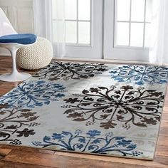 Amazon.com: Premium High Quality Rugs For Living Room Cream Ivory Black  Brown Blues Awesome Ideas