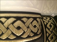 35 mm  1 roll  -  10 meters CELTIC KNOT Black and Gold Jacquard Ribbon Trim Embellishement by Supplieratcorner on Etsy https://www.etsy.com/listing/229564977/35-mm-1-roll-10-meters-celtic-knot-black