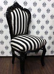 Barock-Stuhl-schwarz-weiss-antik-Design-Buerostuhl-retro-look-Zebra