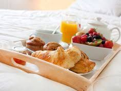 Breakfast in bed // Re-pinned by ettitude.com.au // Source Unknown.