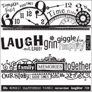 Kelly Panacci Cling Stamps x Sheet, Word Borders Kelly Stamps, Hampton Art, Family Memories, Happy Family, Online Art, Laughter, How To Find Out, Personalized Items, Words