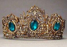 Antique Tiara (19th c.; paste gemstones).