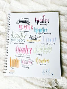 200 Brilliant Bullet Journal Ideas and Doodles to Rock Your Bu Jo - The Thrifty Kiwi Bullet Journal Inspo, Bullet Journal 2018, Bullet Journal Headers, Bullet Journals, Lettering Tutorial, Journal Fonts, Journaling, Bullet Journal Ideas Handwriting, Pretty Notes