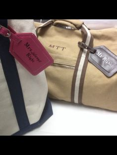 Bags and leather luggage labels