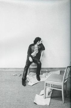 Jim Morrison backstage.