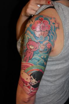 inspiration for the next tattoo - I won't go as pink anime - but I think it rocks